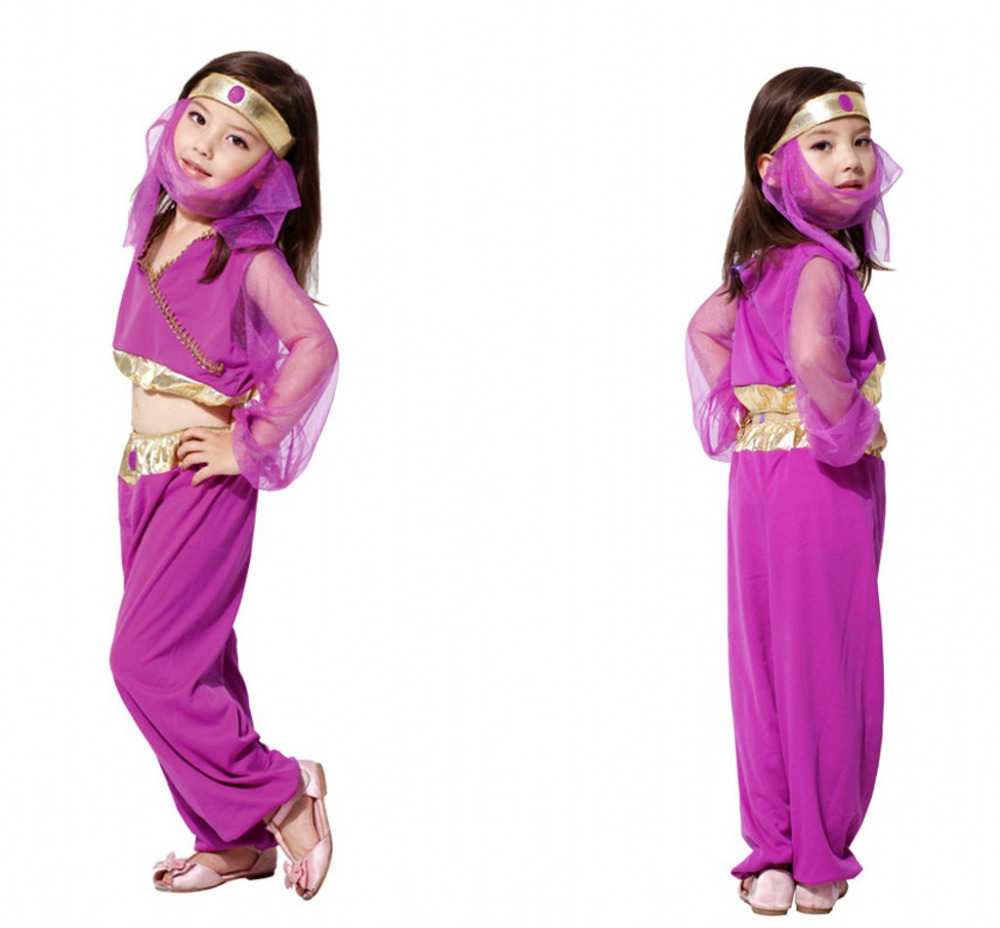 M xl halloween costumes for children girls kids princess arabia cosplay costume fantasia disfraces game