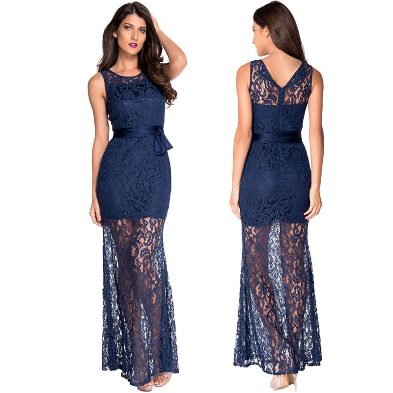 Strapless Lace Long Dress Zipper Cut Out O Neck Tail Eunice Lai Women Online Clothing Summer Party Vestido Longo In Dresses From S