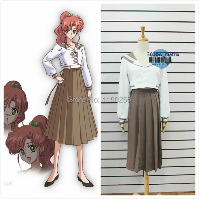 anime new sailor moon crystal cosplay costume custom sailor jupiter halloween school uniform dress free shipping