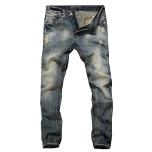 2019 Newly Fashion Men Jeans Vintage Retro Designer Slim Fit Cotton Denim Pants Classical Jeans Homme Jeans Men Blue Color Pants недорго, оригинальная цена