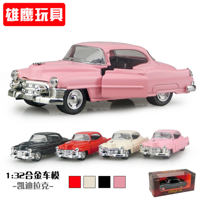 Vintage Cast Rc Car Model Metal Toys With Sound Light Gift For Children1 32 Antique Alloy Cadillac In Box
