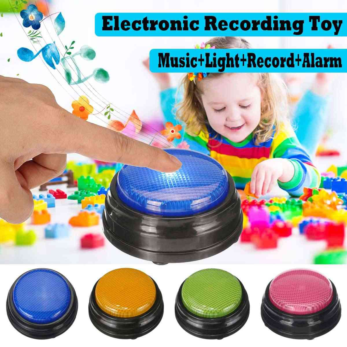 Recordable Talking Button Game Answer Buzzer Alarm Button with Led Adult Event Game Party Tools Bar Kids Children Toy Gifts