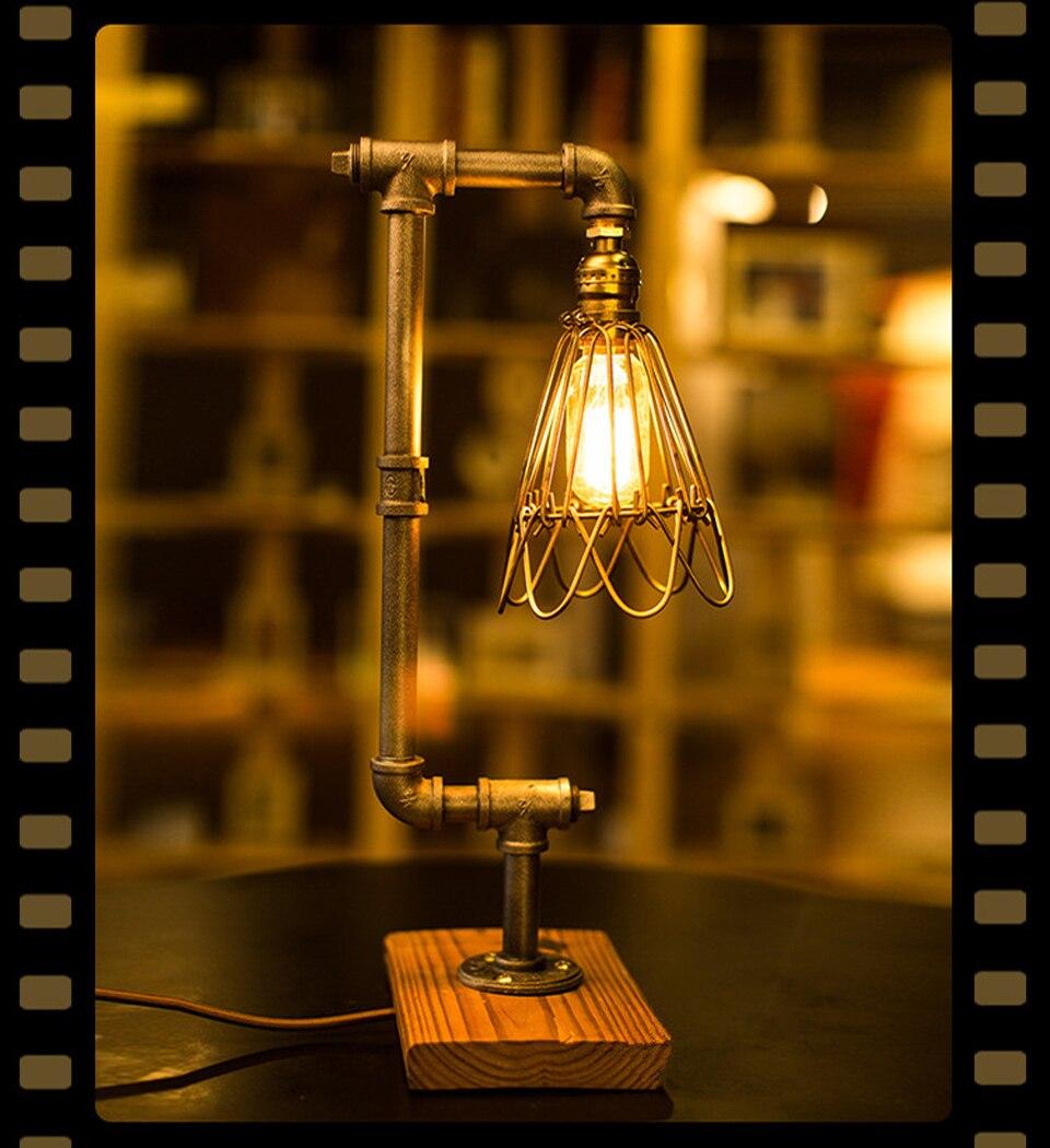 Vintage Industrial Table Lamps Study/Work/Bar/Bedroom ...