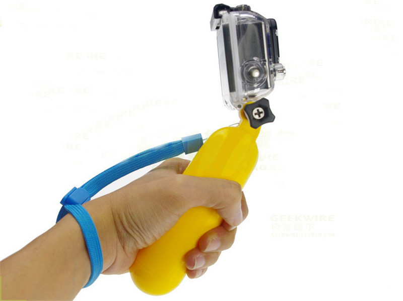 floaty bobber with screw and strap for Go Pro SJ4000SJ5000 SJCAM WIFI Xiao mi yi Sport