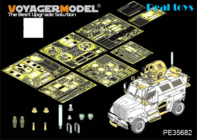 Voyager MODEL 1/35 PE35682 Modern US 4X4 MRAP MaxxPro Armoered Fighting Vehicle(atenna base include) (For KINETIC K61011) voyager pe35419 1 35 modern us m1a2 tusk2 abrams detail set for dragon 3536