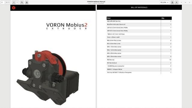 3D printer DIY parts Screw Nuts & Bolts Pack fasten screws kit for DIY Voron Mobius2 extruder 3D printer