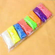 8colors lot Handmade DIY Soft Polymer Foam Modelling Clay Set Snow Pearl Mud Playdough Educational Plasticine