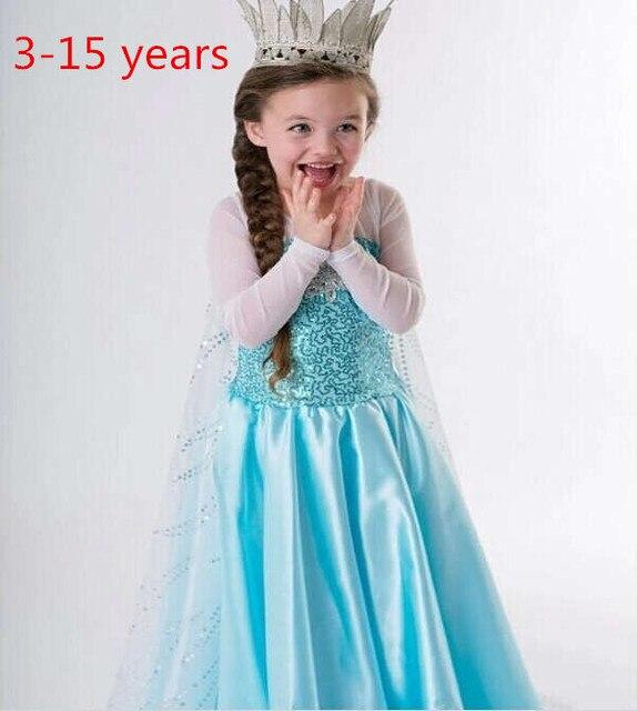 3 15 Year Old Elsa Frozen Summer Dress Princess Long