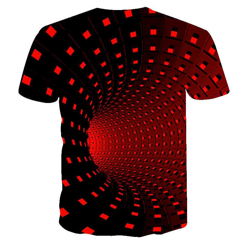 Новая мужская футболка повседневная с коротким рукавом модная забавная футболка с 3D принтом Мужские/Женские футболки высокого качества красная черная футболка hombre 2019