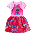 Troll Costume For Baby Girl Dress New Year Kid Poppy Lace Princess Dresses Carnival Christmas Children Sophia Teenag