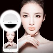 Rk12 selfie led заполняющий свет универсальный портативный кольцо led заполняющий свет лампы камеры фотографии вспышки для iphone android смартфон