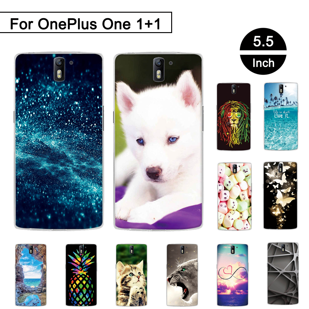 Painted Pattern Case For OnePlus One 1+1 Soft TPU Cases for OnePlus One OnePlus 1 Back Phone Cover for OnePlus 1 5.5 inch Shells