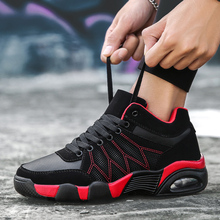 Hot Sale Winter Warm Plush Sport Shoes Men Air Cushion Damping High Top Sneakers Outdoor Running Shoes Wearable Youth Gym Shoes