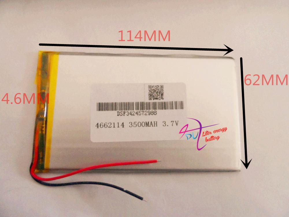 Лучший аккумулятор бренд Размер 4662114 3.7 В 3500 мАч Литий-полимерный Аккумулятор с Советом по Защите Для КПК Планшетные пк Цифровых продукты