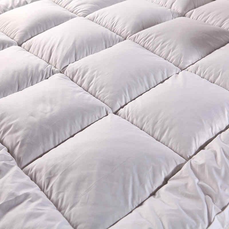 Nova Alta Qualidade Espessamento Colchão Cobrir os móveis Para O Hotel Da Família Tecido Ganso Para Baixo De Enchimento de algodão Colchas Rei