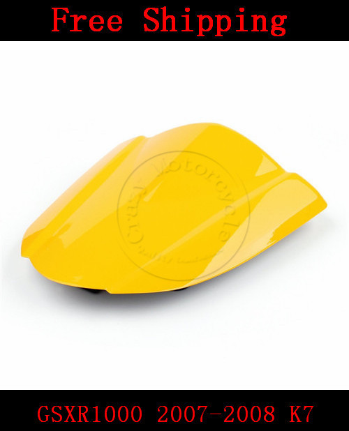 For Suzuki GSXR1000 2007-2008 K7 motorbike seat cover Brand New GSX R 1000 Motorcycle Yellow fairing rear sear cowl cover for suzuki gsxr1000 2005 2006 k5 motorbike seat cover brand new gsx r 1000 motorcycle carbon fairing rear sear cowl cover