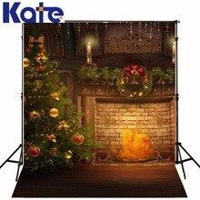 backdrop christmas The Christmas tree fire 5x7ft(1.5×2.2m) photo studio background ZJ