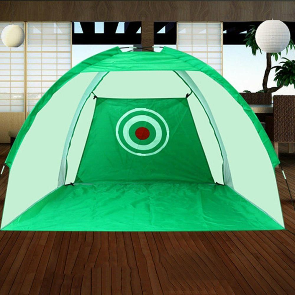 Golf Hitting Net Outdoor Sports Portable Practice Cage Indoor Garden Trainer 2M 2