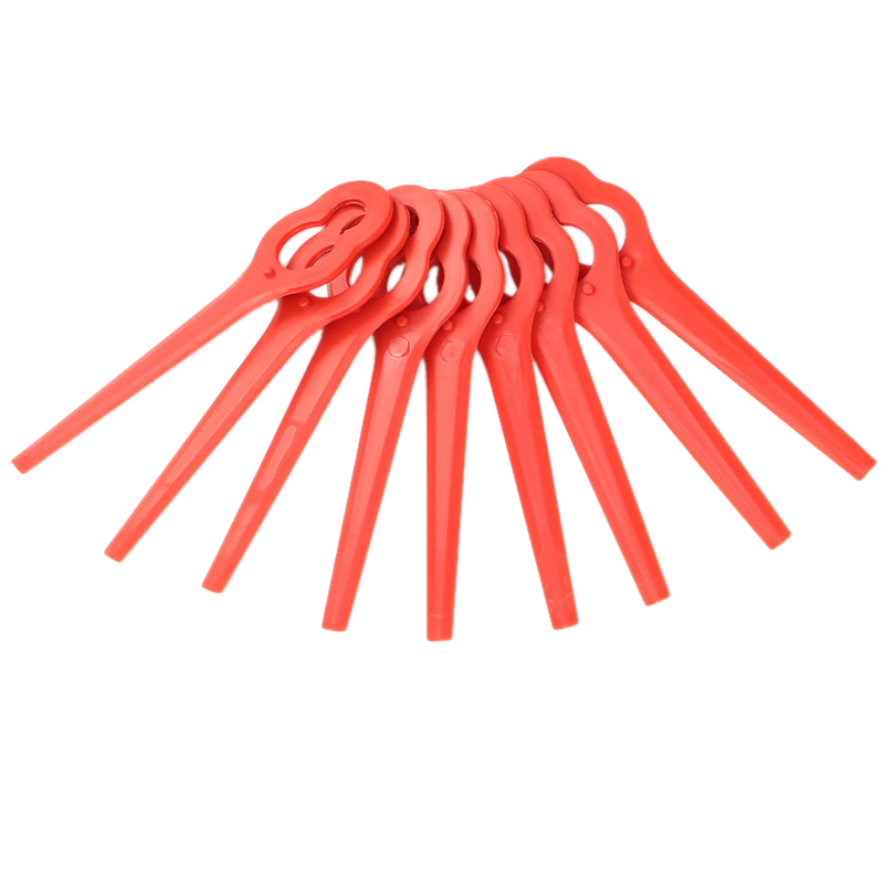 Smart 8pcs Swing Plastic Blade Pendants Replacement Grass Trimmer Blade Fits For Cordless Lawn Trimmer Tools