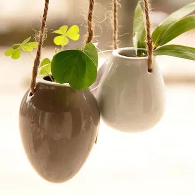Egg Flower Pots Planters Hanging Vases Home Decoration Garden Wall  Decoration