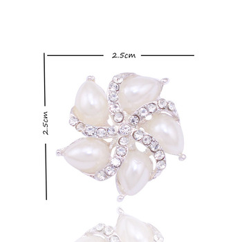 Unique European and America Embellishment for Wedding Invitation Card Jewelry Accessory 2.5cm 50pcs/lot Pearl Flat Botton NK006