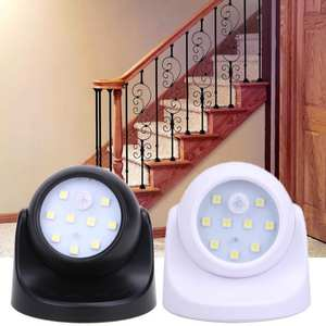 Night-Light Led-Lamp Motion-Sensor Wall-Room Outdoor Home 360 for 9 Degress Wirless
