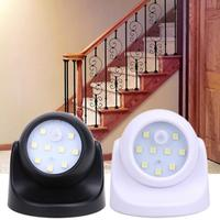 Motion Sensor 360 Degress Night Light  9 LED Lamp Motion Activated Wirless Sensor Light For Home Outdoor Wall Room Lighting