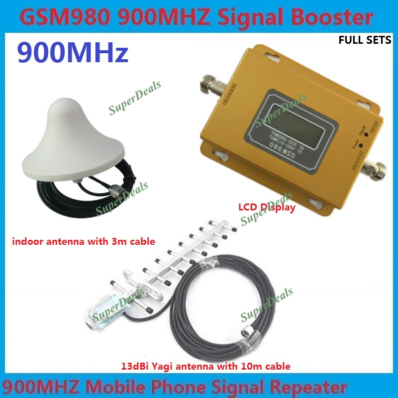 ZQTMAX 75dbi Gsm Repeater 2g Cell Phone Signal Booster 900Mhz With Yagi Antenna 10m Cable