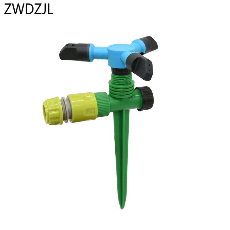 Garden Water Nozzle Adjustable Rotate Sprinkler Nozzle Watering Head Lawn Water Sprinkler Watering & Irrigation 1set