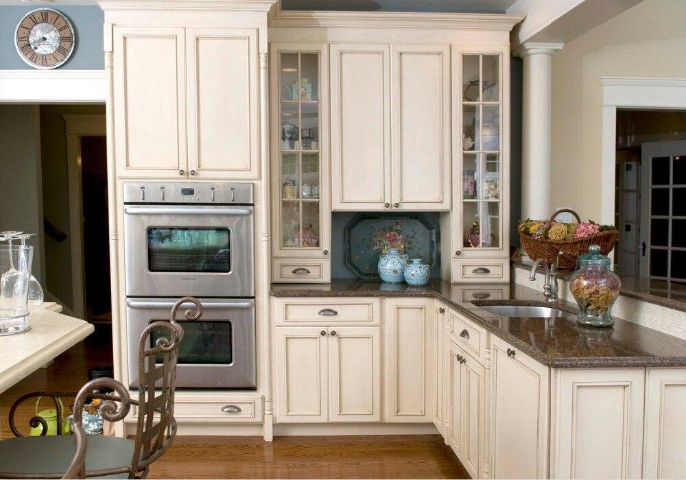 nuevo estilo de la coctelera tradicional por encargo gabinetes de cocina de madera maciza de madera mate de cocina cabinete
