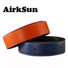 2017 Designers Luxury Brand Belts for Men Without Buckle Pin Buckle Male Strap Genuine Real Leather Waistband 3.6cm No H Buckle