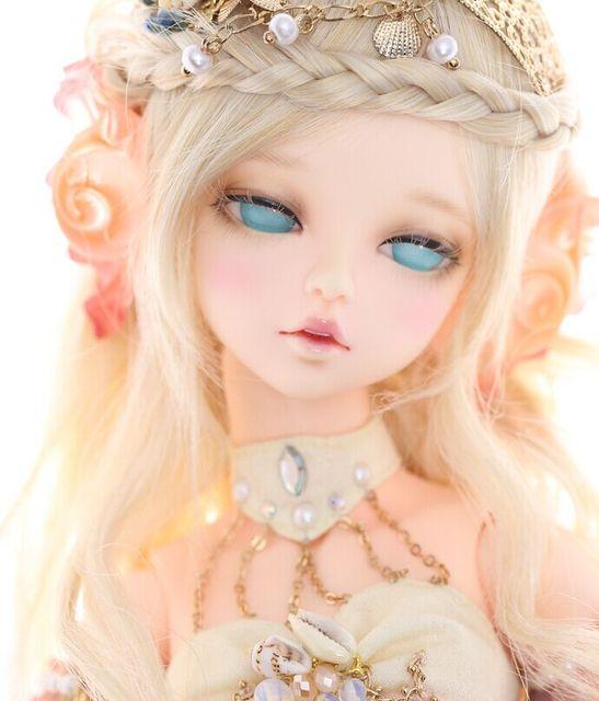 Soom oueneifs serin rico sereia peixe mar-empregada 1/4 bjd msd sd figuras de resina modelo de corpo reborn baby meninos meninas dos olhos das bonecas presente