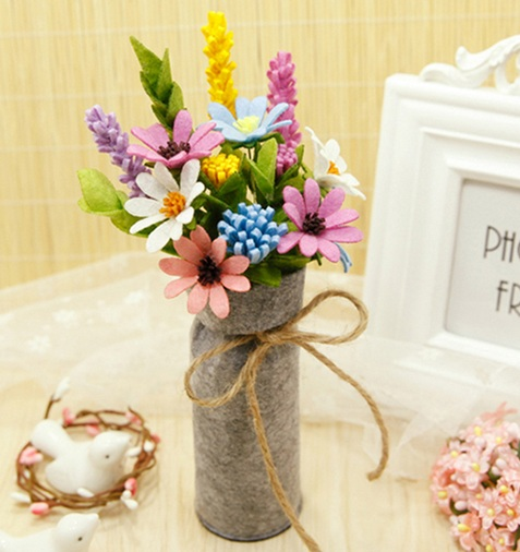 Handmade Wedding Flowers: Mylb Simulation Bouquets Felt DIY Package Free Cut Felt
