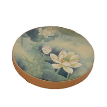 Printed Cotton Traditional Chinese Lotus Hot Natural Straw Round Pouf Tatami Cushion Floor Cushions Meditation Yoga Mat Za