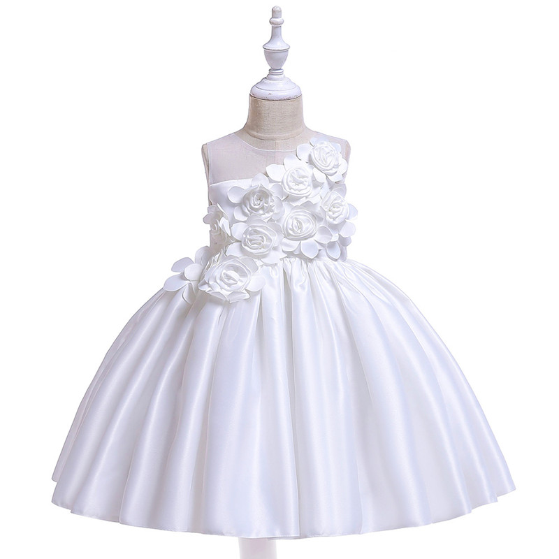 Elegant Rose Fower Girls Dress Kids Princess Birthday Applique Prom Designs Ball Gown Fashion Children Dresses For Girl Clothes (3)