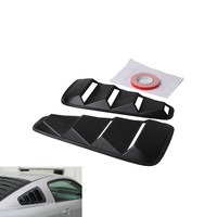 Ryanstar Racing Car Styling JDM Car Sticker 1/4 Quarter Side Window Louvers Scoop Cover Vent for Ford Mustang 2005 2014 HS002