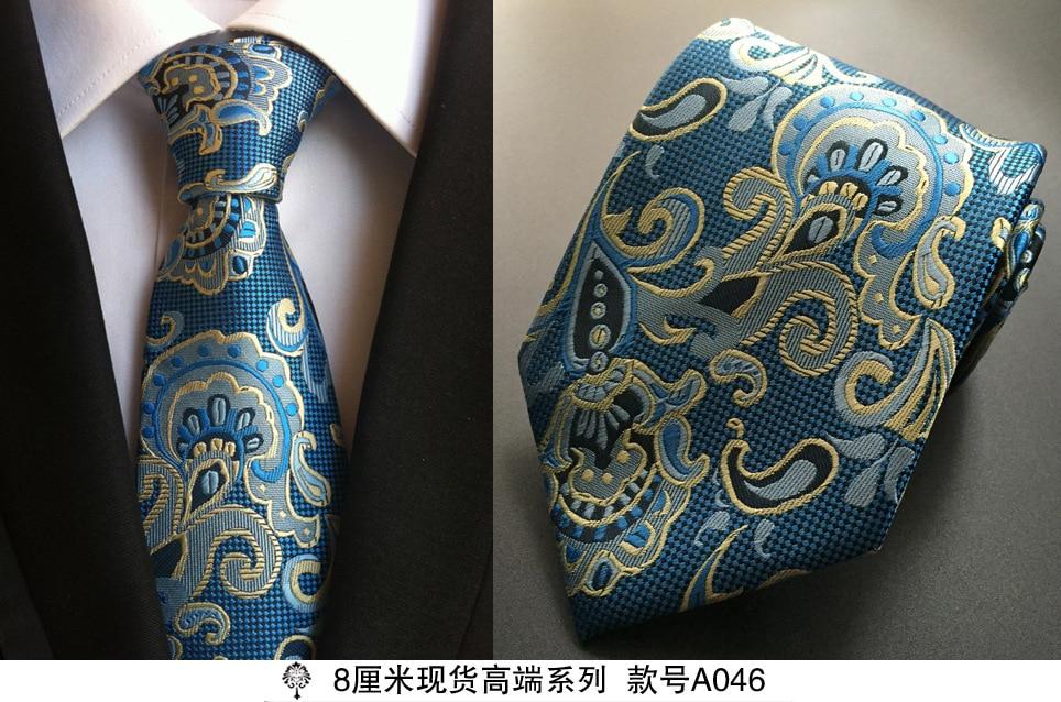 Sıcak paisley kravat mens% 100% ipek kravat tasarımcılar için - Elbise aksesuarları - Fotoğraf 5