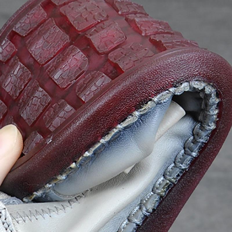 En Bouche Plat Top Souple Mère Noir Paresseux gris Profonde Chaussures Semelle dérapage Nouveau rouge Chaussures Haricots Anti Peu De Simples Cuir Automne dI0wgwvq