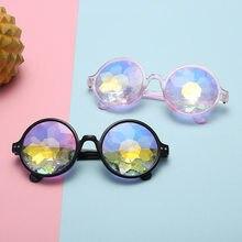 Hommes Femmes Kaléidoscope lunettes de Soleil Modèle Défilé Dazzle  Artificielle diamant Lentille Vapeur Punk Parti Sun Lunettes . c207b614b090