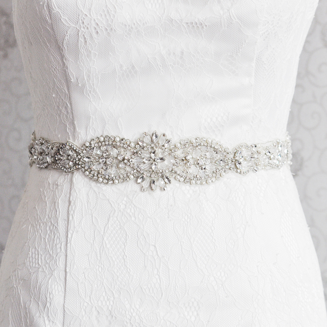 TOPQUEEN S234 Romantic Sexy Wedding Bridal Belts Crystal Beading Bridal Dress Accesories Sash