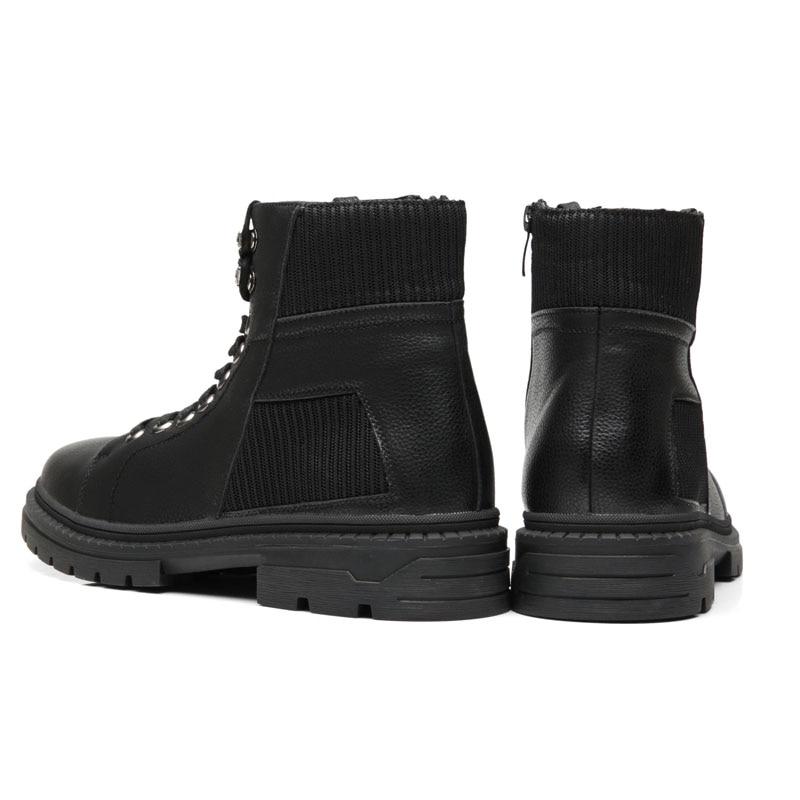 Homens Casuais Botas Outono Boots Ankle Mens Dxkzmcm Desgaste De Conforto Preto Zip Calçado Inverno Trabalho Sapatos Aawq5Ywdx