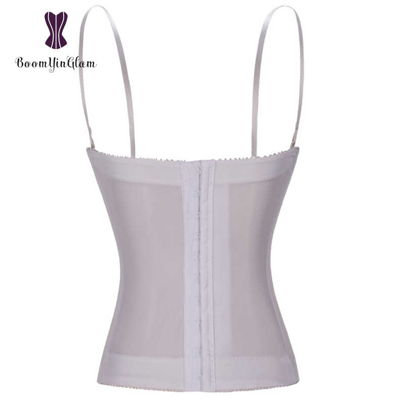 c4b4d1fa60a ... High quality fashion spaghetti straps body shaperwear white lace bridal  corsets bra bustiers for wedding 862 ...