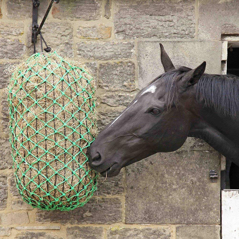 Feed Hay Net Horse Cattle Cow Feeder Net Mesh Hanging Bag 4 5MM Thick Braided Nylon Hay Bag Equestrian Fodder Bags in Horse Care Products from Sports Entertainment