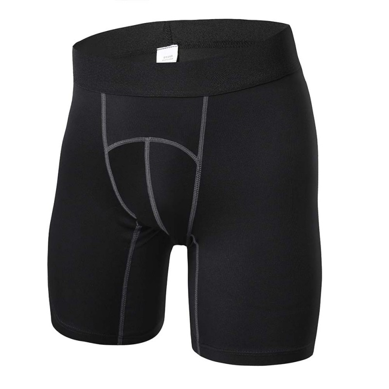 4 Colors Men Compression Gym Sports Shorts Fitness Athletic Training Skin Tight Base Layer Men Outdoor Sports Shorts outdoor sports fitness polyester spandex tight shorts for men black xl