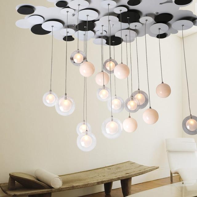 Post moderne blase glaskugel pendelleuchte Moderne kunst wohnzimmer ...