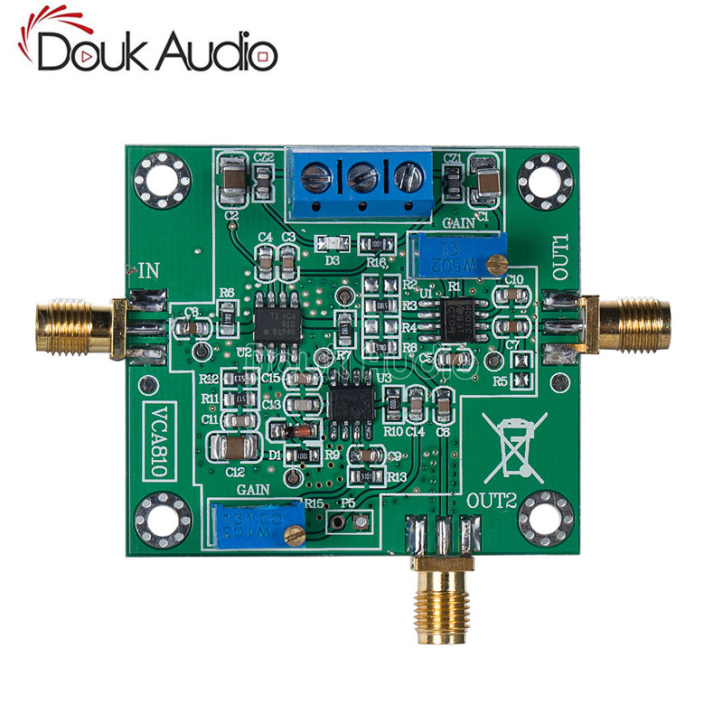 VCA810 Module AGC Automatic Gain Amplifier 30MHz Broadband Adjustable 60dB Circuits     - title=