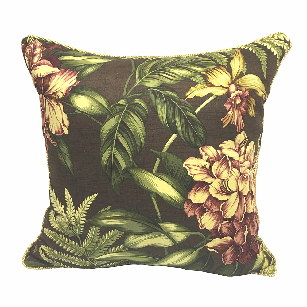 Fashion digital print brown tropicalfloral decorative for Decorative armchair