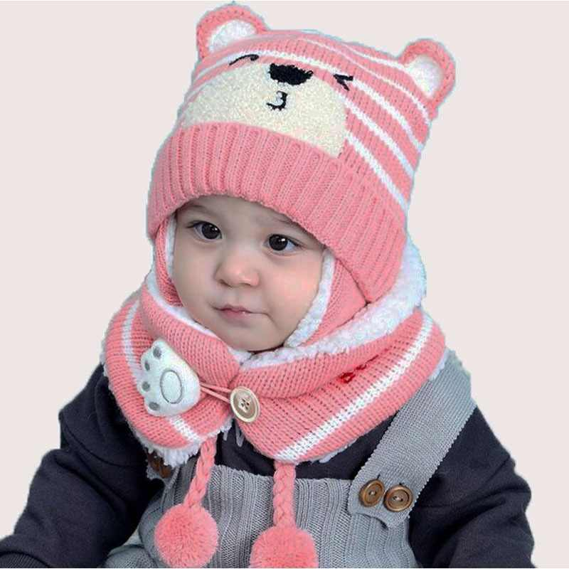 73326d336 Detail Feedback Questions about 3 pcs baby girl knitted hat scarf ...