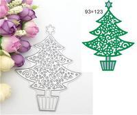 Pretty Christmas Tree Designs Metal Embossing Cutting Dies Stencils For Scrapbooking Photo Album DIY Crafts Paper