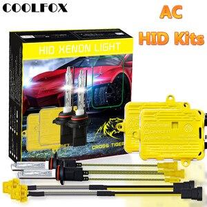 Image 1 - COOLFOX AC 12 V 55 W Xenon żarówki 9006 9005 HB4 HB3 H11 H4 H7 reflektory ksenonowe statecznik hid światła z jednostka zapłonu zestaw 24 V lampa samochodowa